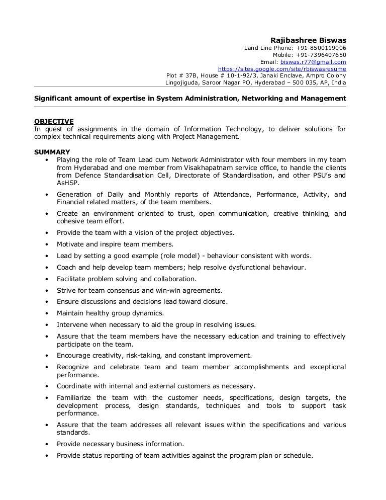 resume biswas profile