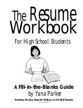 resume writing for teens - How To Write A Resume For High School Students