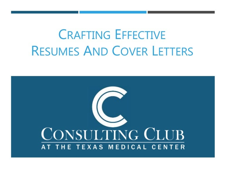 2017 Resume and Cover Letter Workshop
