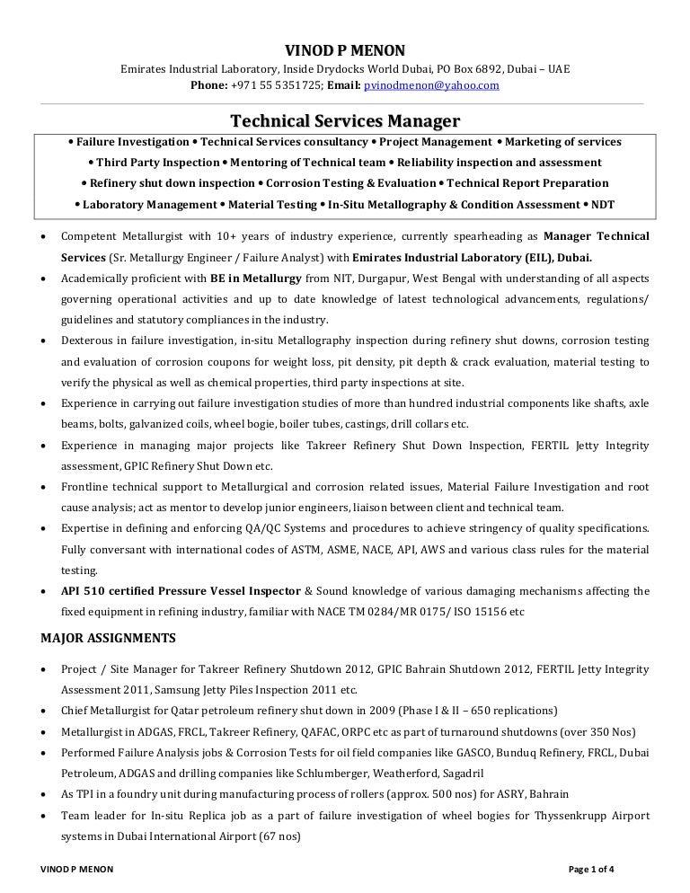 welding engineer resume
