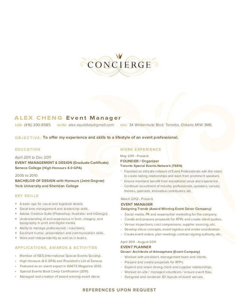 Resume(concierge)(2013)