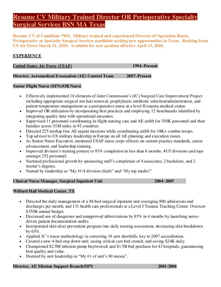 SlideShare  Director Of Nursing Resume