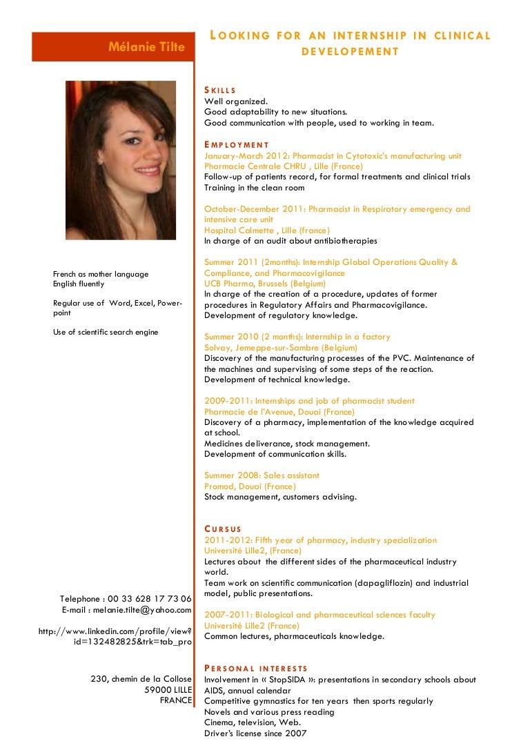 Fine Resume Pharmacist Industry Photos Entry Level Resume