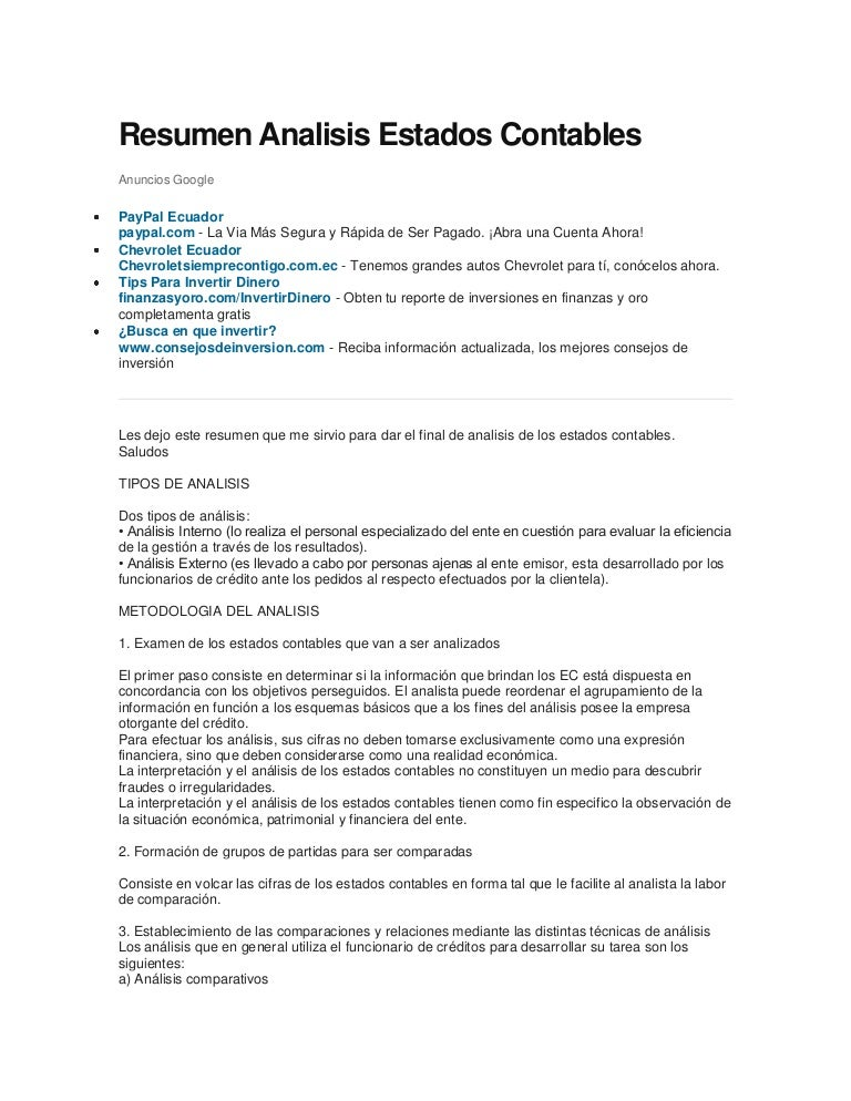 Resumen analisis estados contables