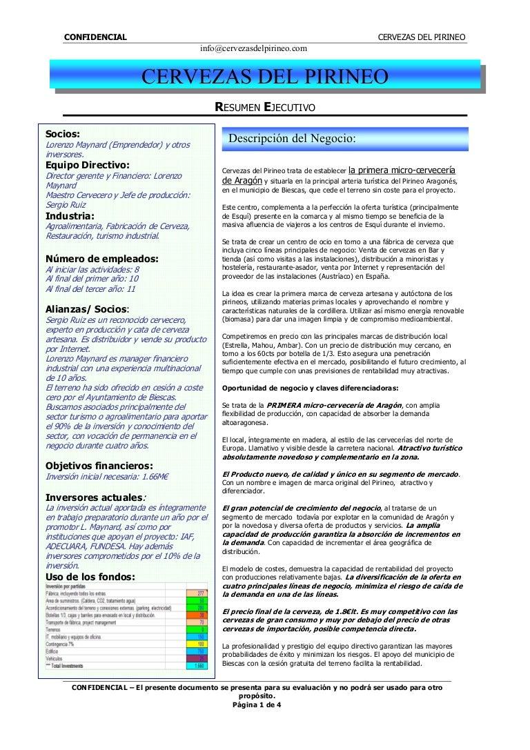 Excelente Resumen Ejecutivo De Cuenta De Publicidad Bosquejo ...