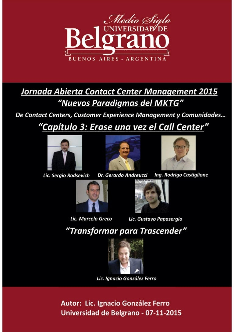 jornada 2015 Diplomado Call y Contact Center Management
