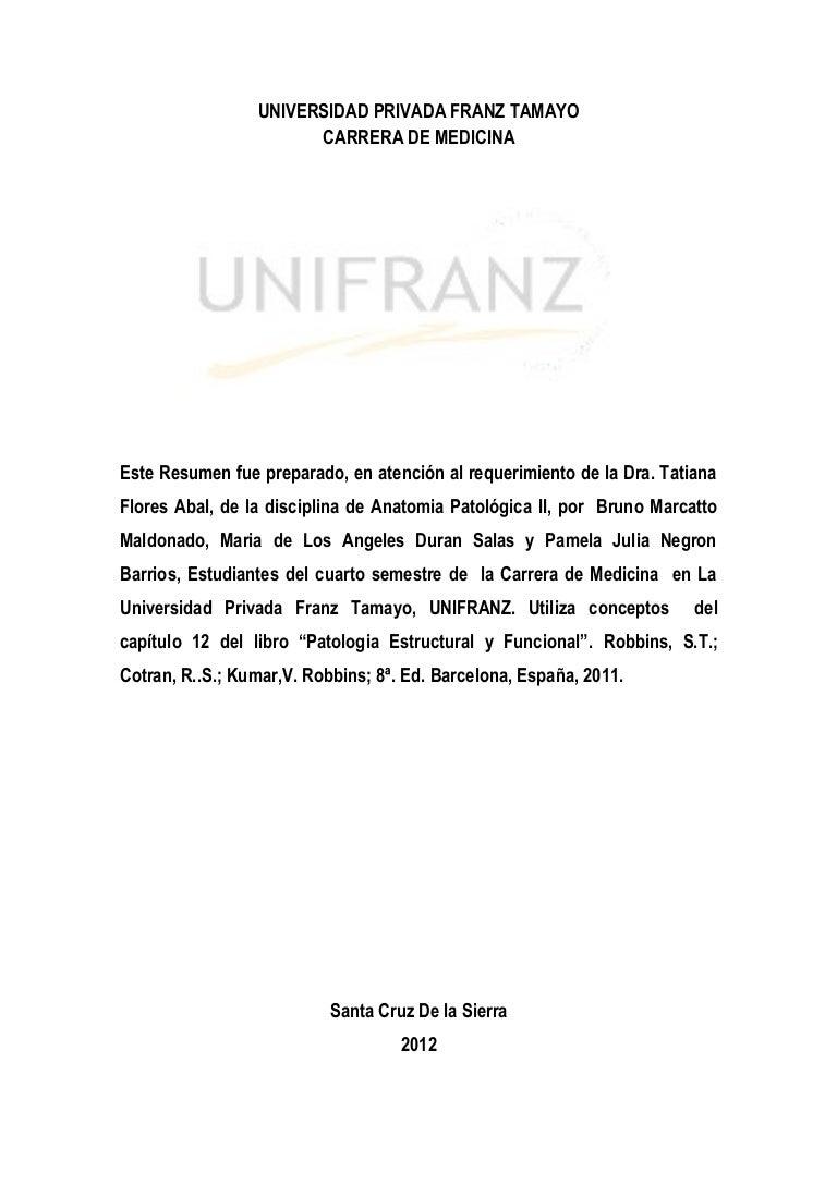 Resumen Patologias Corazon - Anatomia Patologica II