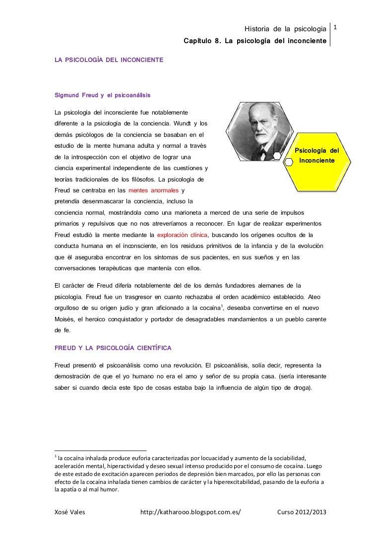 Resumen tema 8 . la psicología del inconsciente