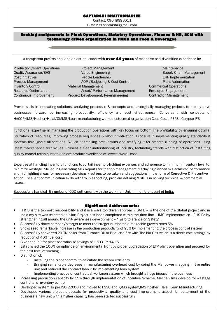 Resume of saptarshi bhattacharjee