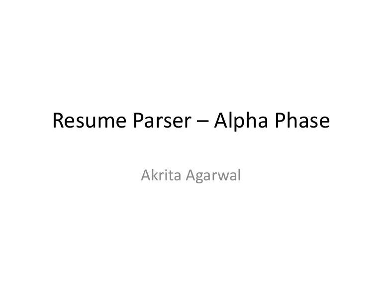 Resume Parser resume parser Resume Parser