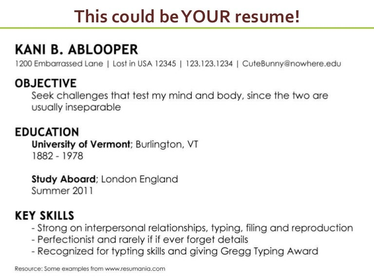 SlideShare  How To Write A Resume For Job