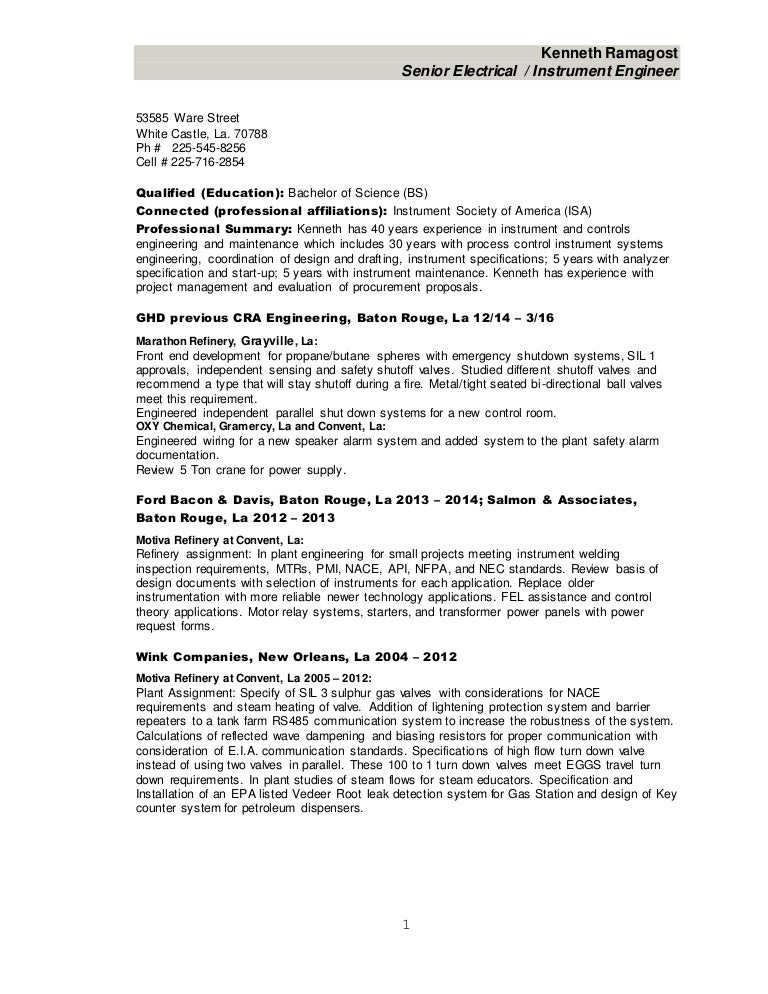 Controls Engineer Resume Voluntary Action Orkney  Controls Engineer Resume