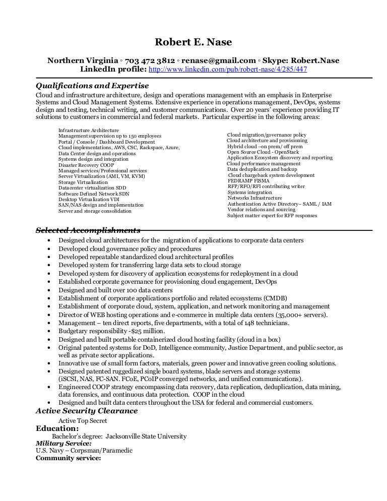 Resume robert nase 2016