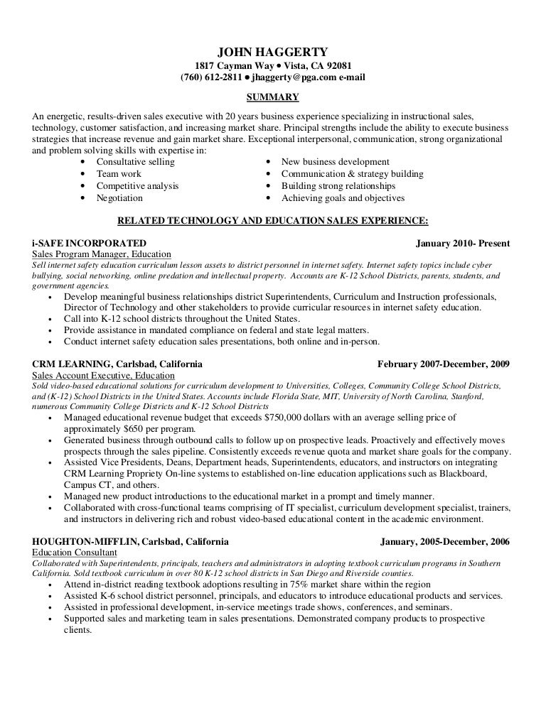 Resume Sales Latest 01 3 12