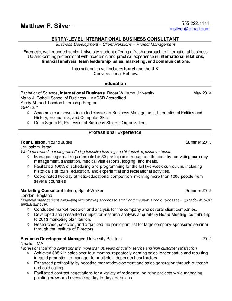resume samples for college students and recent grads - Resume Examples For College Student
