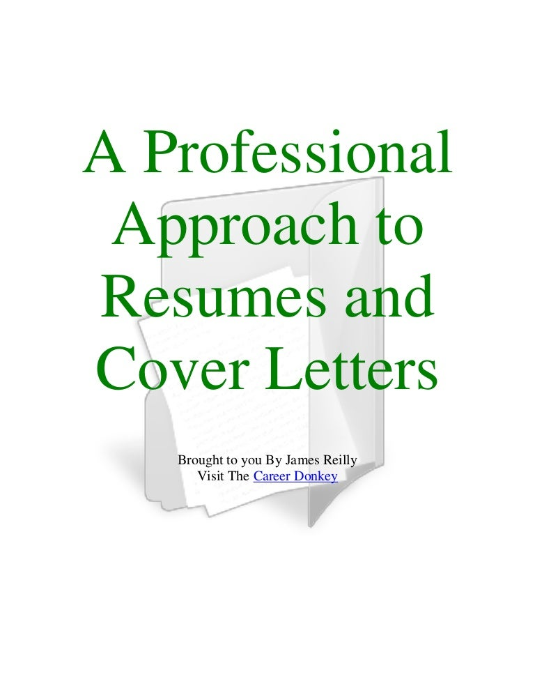 A professional approach to resumes and cover letters fandeluxe Choice Image