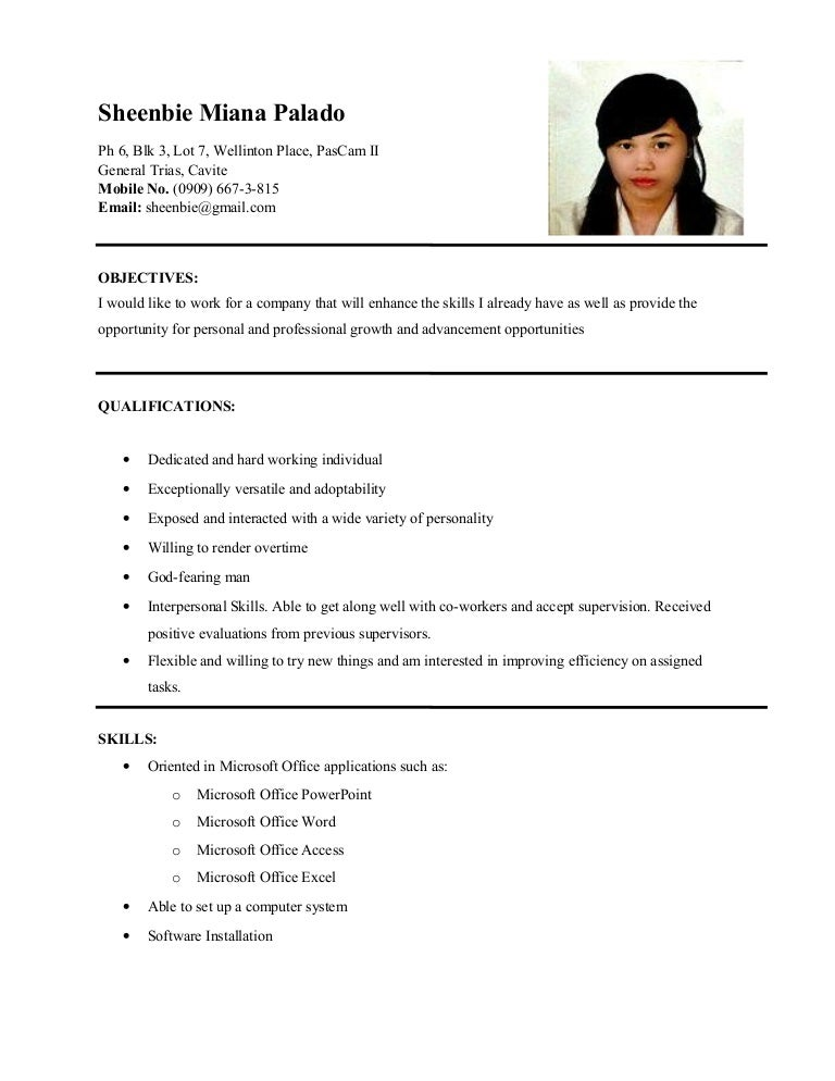 Best Bsit Resume Contemporary - Simple resume Office Templates .