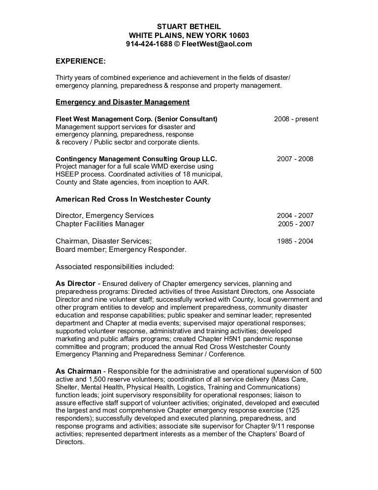 Emt Resume Emergency Medical Technician Resume Sample Template Resume  Stuart Betheil Esc