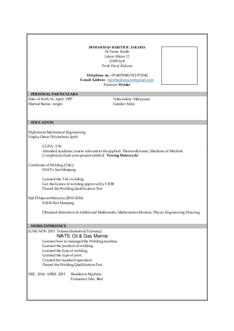100 Welding Resume Welding Inspector Cover Letter
