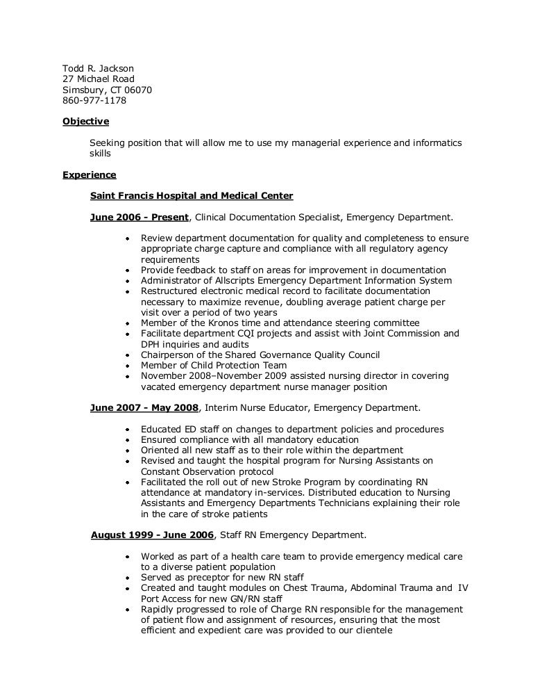 Stunning Interim Nurse Manager Resume Images - Best Resume