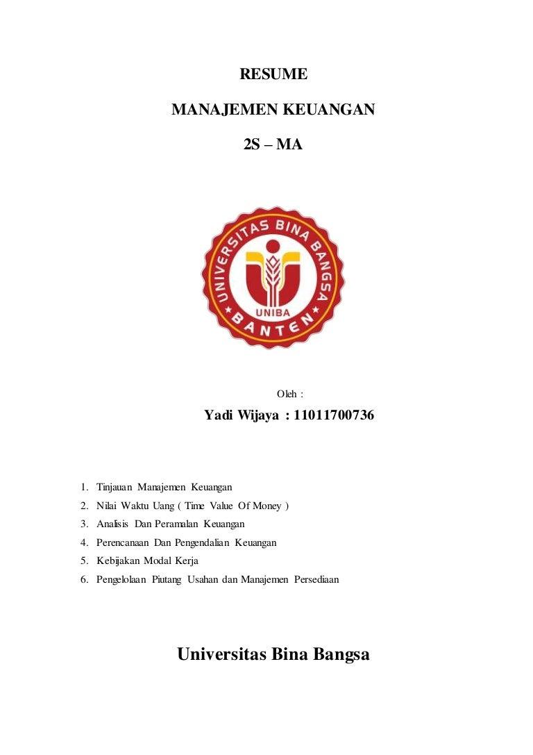Materi konsentrasi manajemen keuangan