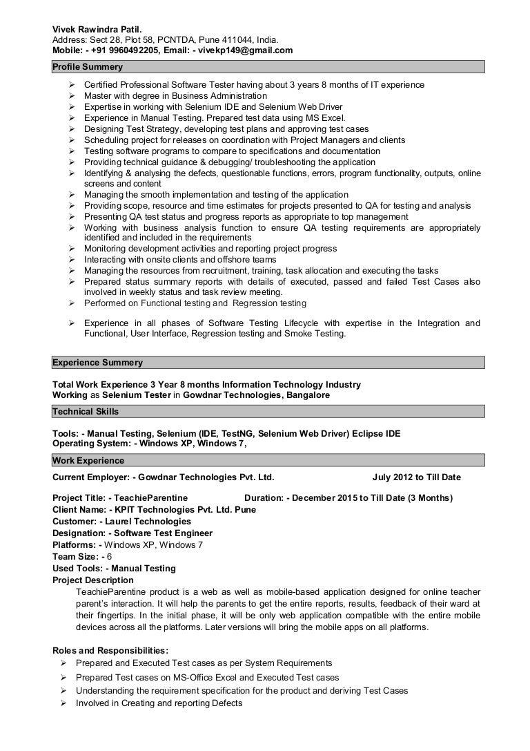 resume samples for web designer fresher jobs experienced resume selenium testing resume - Selenium Testing Resume