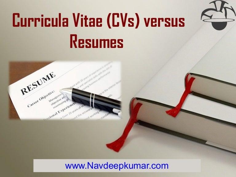 Charming Resume Vs Cv