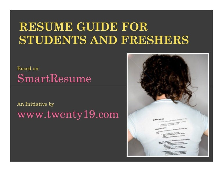 resume writing for students and freshers - How To Write A Tech Resume