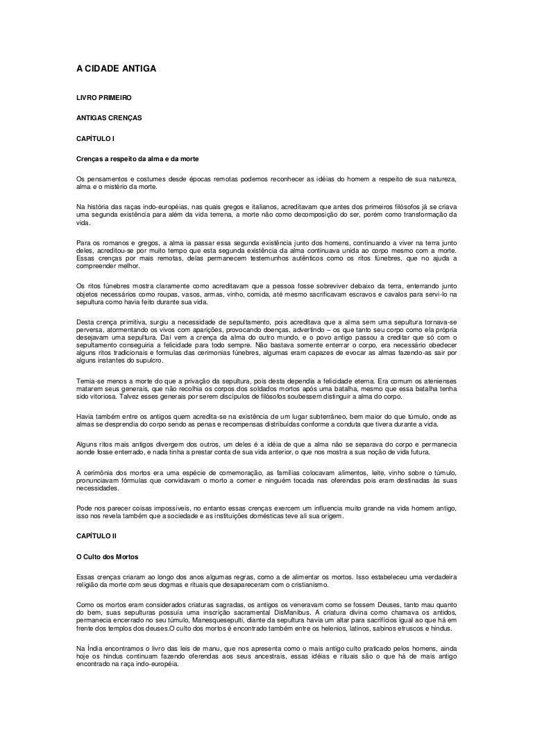 FUSTEL A COULANGES BAIXAR PARA ANTIGA CIDADE DE LIVRO