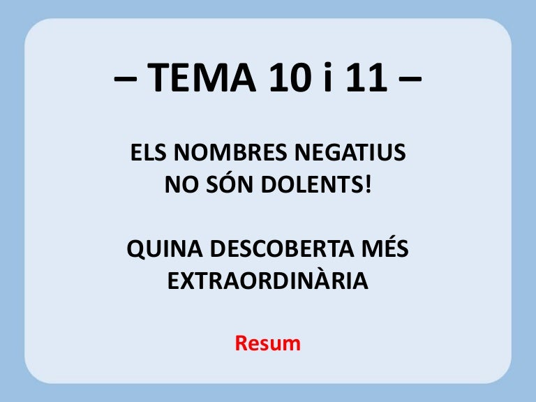 resum t10i11