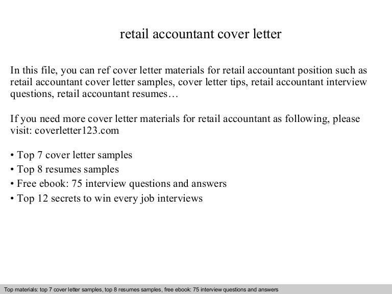 Retail accountant cover letter