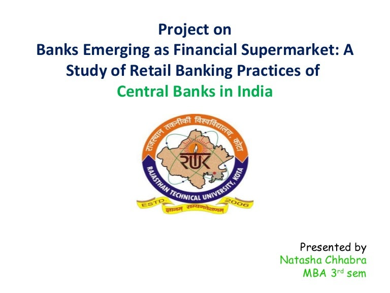 summer internship report on central bank of India