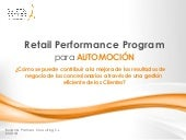 Retail Performance Program Automoción | Buljan & Partners Consulting