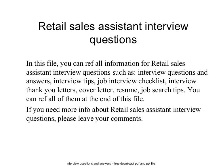 retail job interview tips