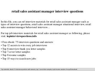 the role of a sales assistant