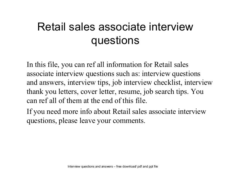 Cover Letter Sales Associate Retail