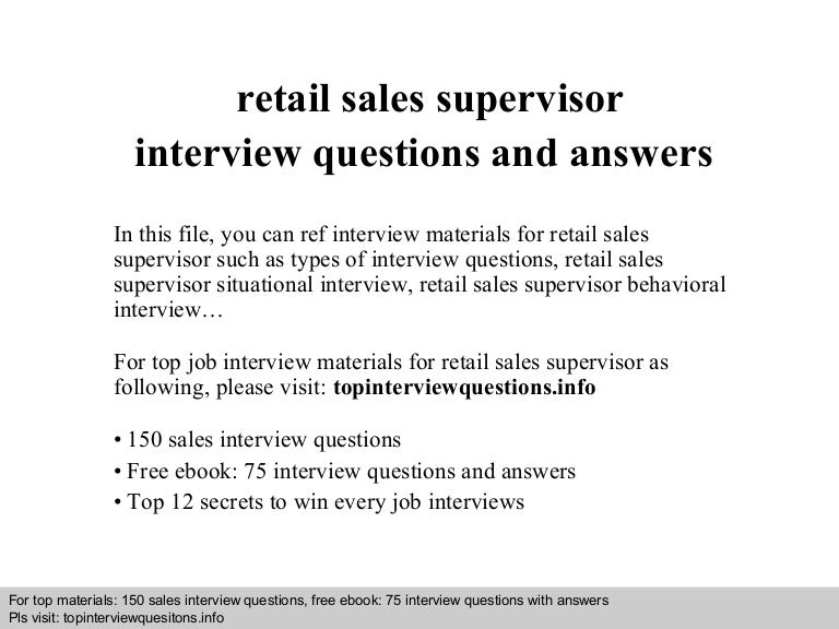 interview questions for retail
