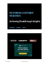 Rethinking customer research (ProductCamp Boston)