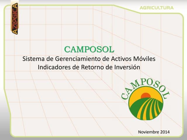 RETORNO DE INVERSION INTERNET DE LAS COSAS EN EL AGRO- CAMPOSOL