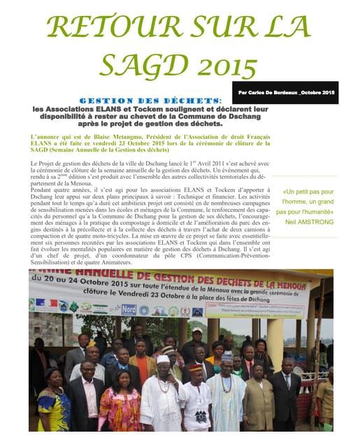 Retour sur la sagd 2015 à dschang(cdb)