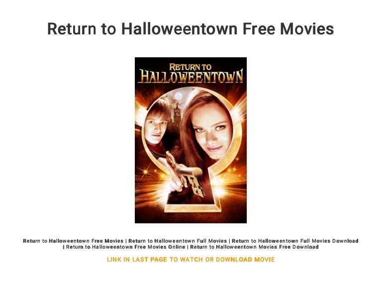 watch halloweentown return to halloweentown online free