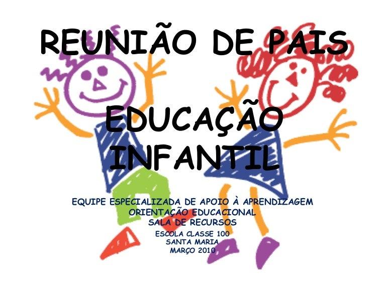 Reunião De Pais Educação Infantil