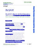 ReSAR:  Reusable Software Artifacts Repository 27MAR14