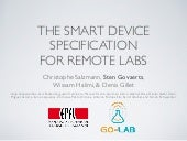 The Smart Device Specification for Remote Labs