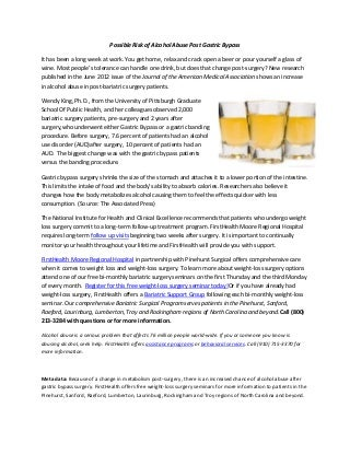 Rev 1 possible risk of alcohol abuse post gastric bypass