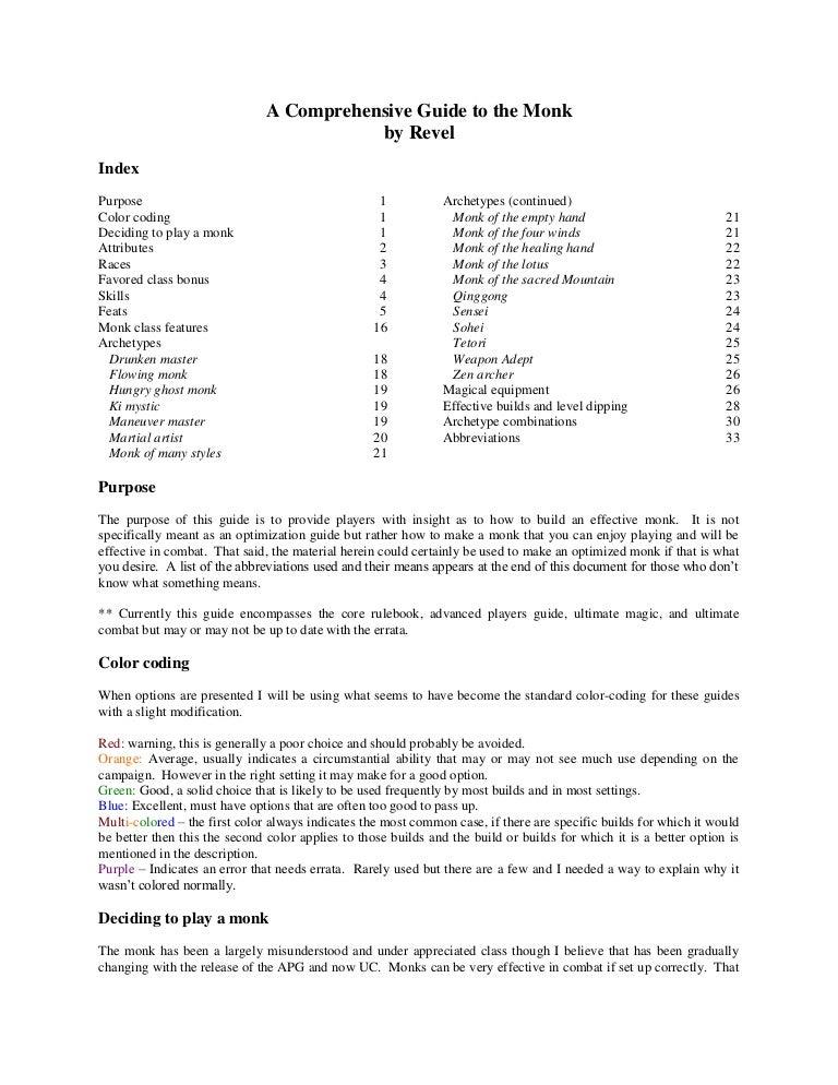 Revel's monk guide