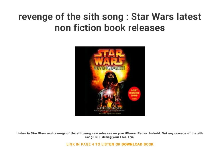Revenge Of The Sith Song Star Wars Latest Non Fiction Book Releases