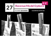 27 Revenue Model Options B2C (curated by @arnevbalen - Board of Innovation)