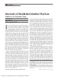 Reversals of established medical practices prasad cifu ioannidis
