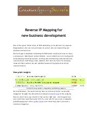 Reverse ip mapping ebook